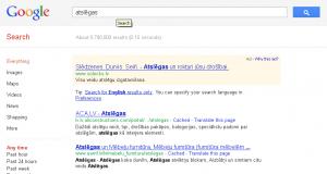 Meklēšanas rezultāti Google